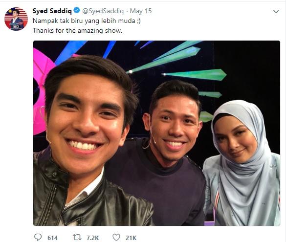 Ini susulan Saddiq memuat naik gambarnya dengan Neelofa dan Nabil beserta  kapsyen f7825165de