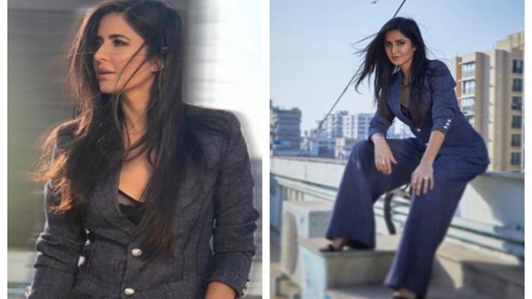 Photo of Katrina Kaif Kelihatan Seperti Bos Wanita Dalam Pantsuit Kelabunya