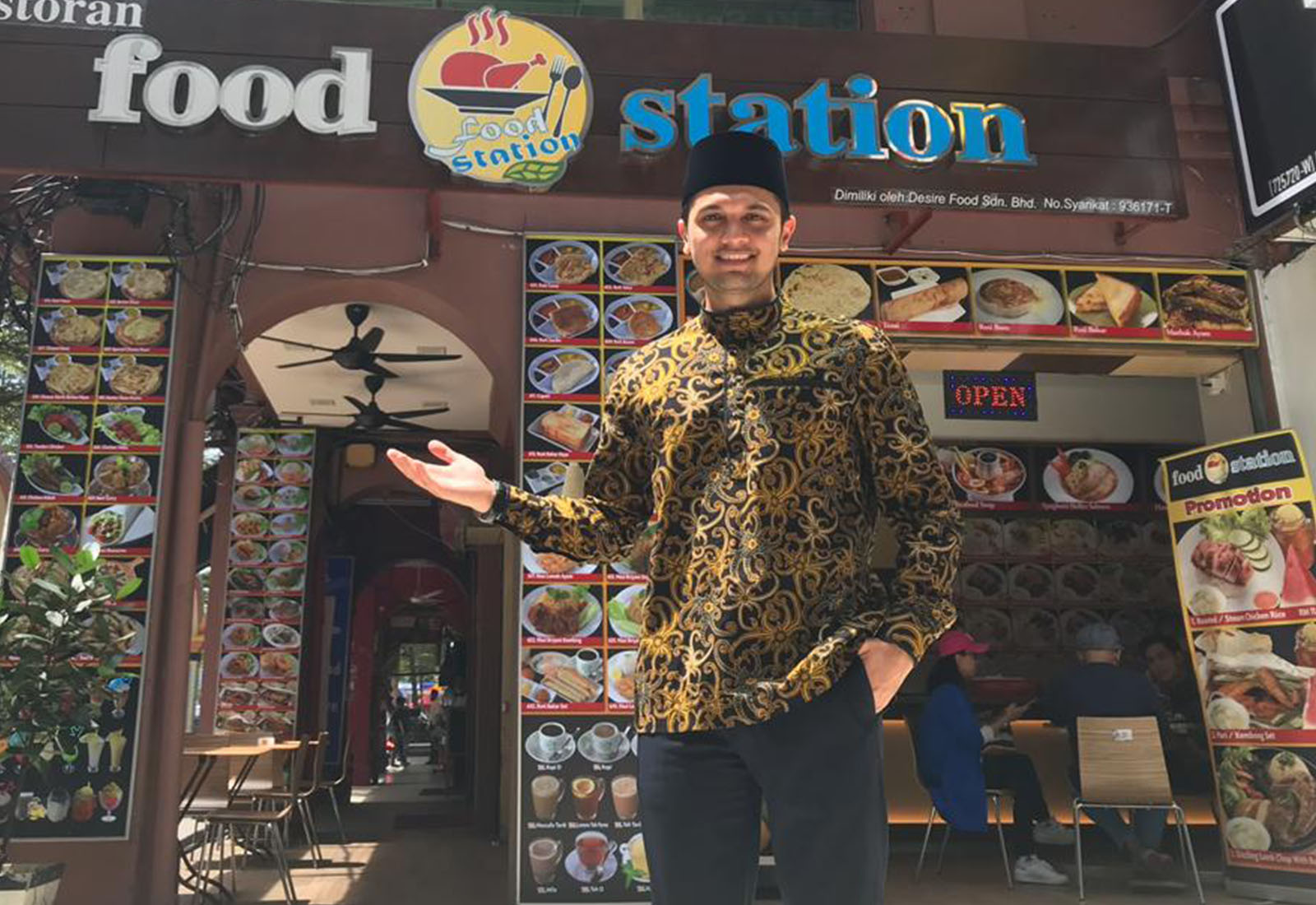 Photo of Ikut Jejak Bapa Dalam Perniagaan, PU Riz Kendalikan Food Station